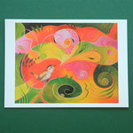 """Postkarte 3 """"Der Vogel hat ein Lied"""", 1,50 €"""