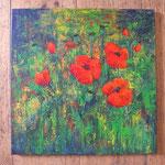 386  PB Mohnwiese  |  Acryl auf Leinwand, 2013, 40 x 40 cm, verkauft