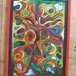 071  Baumleben  |  Öl auf Hartfaserplatte, 2001, 50 x 75 cm, 357 (statt 420) Euro
