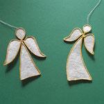 Engel aus Papierdraht und leicht transparentem Papier, 4 €/Stück