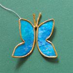 Schmetterling aus Papierdraht und leicht transparentem Papier, 4 €