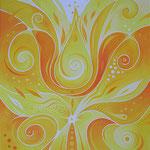584 Lass dein Licht strahlen, Öl auf Leinwand, 2020, 40 x 50 cm, verkauft
