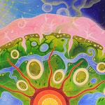 569 Neue Erde, Öl auf LW, 2020, 100 x 70 cm, 1000 € zzgl. Versand