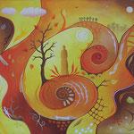 549 Herbstfrau, Öl auf LW, 2019, 70 x 50 cm, 500 € zzgl. Versand