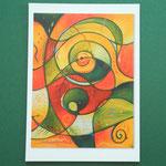 """Postkarte 4 """"Verbunden mit allem was ist"""", 1,50 €"""