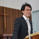 こちらは旭東教会の講壇に立たれる、湖山教会牧師・森嶋道先生です。ご奉仕ありがとうございました!