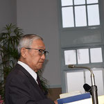 関田寛雄先生、旭東教会の講壇からの力強い説教をお聴きしました。2015年11月22日(日)