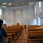 姫松教会の礼拝堂です。シンプルなたたずまい。それが教会の伝統のようです。長老派の伝統ある教会ですよ。