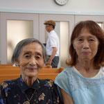 光子さんと次女の安佐子さんです。