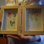 お連れ合いの史生さん、62年待ち続けて、まったく思いも寄らない形でご主人の洗礼式を迎えました。心を込めてのカードです。