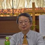 合同CS教師研修会で質問にお答え下さる古谷先生です。5教会から20名ほどの参加者があり、とても有意義な時間でした。