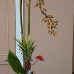 直美さんも感動されていたこの日の献花。パイナップルです。