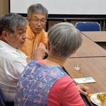 団塊の世代組は、加賀乙彦、遠藤周作というカトリックのクリスチャン作家の本を巡って談義。清美さんは超健康的な食べ方でした。
