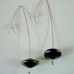 Nenuphar - collection soucoupe - boucle d'oreille - argent oxydé