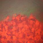 France-Noëlle Pellecer - peinture - les herbes rouges