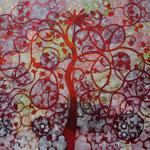 Alain guillon - peinture - arbre de vie