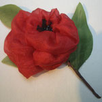 Valérie Bellier  - broche fleurs - soie