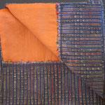 Hava Niknam - écharpe  coton  intérieur mélange soie et coton -30cmx150cm