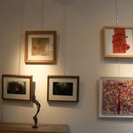 """Tableau """" arbre de vie """": Alain Guillon / Collage papier divers : rosario Arcos"""