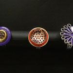 Sarah Najand -  bague / pile - morceaux de métal divers -peinture