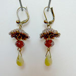 Voici des fleurs - boucle d'oreille - perle