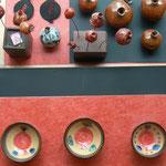 bols des frères Najo - grenades en céramique  couleur kaki et noire: Sophie Gallé- Soas