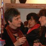 Vernissage - 1er anniversaire de Rouge Grenade - françoise , Agathe, Sophie