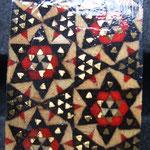 Bague - Khatam - bois divers, laiton et os de chameau