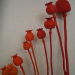 Françoise Trotabas - installation Végétal - les pavots 2