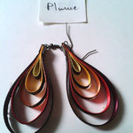 Chloé Serout - bijoux ruban  - modèle plume -
