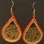 Florence Tissot - boucle d'oreilles( perle + métal doré  ajouré)