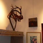 """Sculpture : denise Eisler / peinture : patrick Outil / gravure """" choux rouge """" Constance des Mazery"""