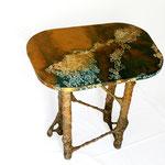 Eve Tésorio - petite table végétale ( carton bambou et coquilles d'oeufs )