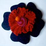 Hava Niknam - broche fleur - feutrine - 10cm