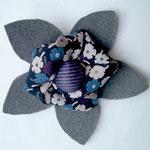 Hava Niknam - broche fleur - feutrine et tissus - 10cm