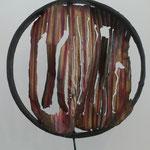 Denise Eisler - sculpture en métal de récupération - Moucharabieh - 45x36x11