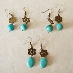 Boucle d'oreille - turquoise