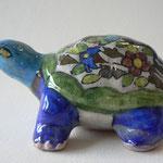 Céramique - tortue - motifs floraux
