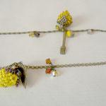 Voici des fleurs - bracelet fraise - perle