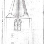 Projet du clocher sur la tour