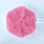 Eponge Lavable Claudie - Fuchsia / Blanc (04-0501)