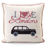 JR253 London Taxi Cushion(Cream)
