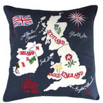 JR221 British Isles Cushion(Navy)
