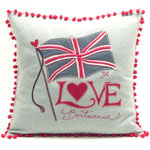 JR238 Love Britannia Cushion(Duck Egg Blue)