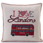 JR252 London Bus Cushion(Cream)