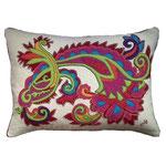 JR520 Gypsy Paisley Cushion(Cream)