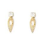Diamond Stads Earrings Gold