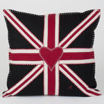 JR141Union Jack Square Cushion(Black)