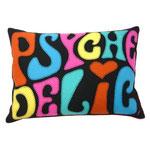 JR379 Psychedelic Cushion(Black)