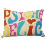 JR379 Psychedelic Cushion(Cream)